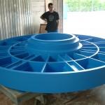 molde de madera circular