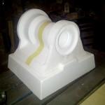 molde de poliestireno para pieza grande